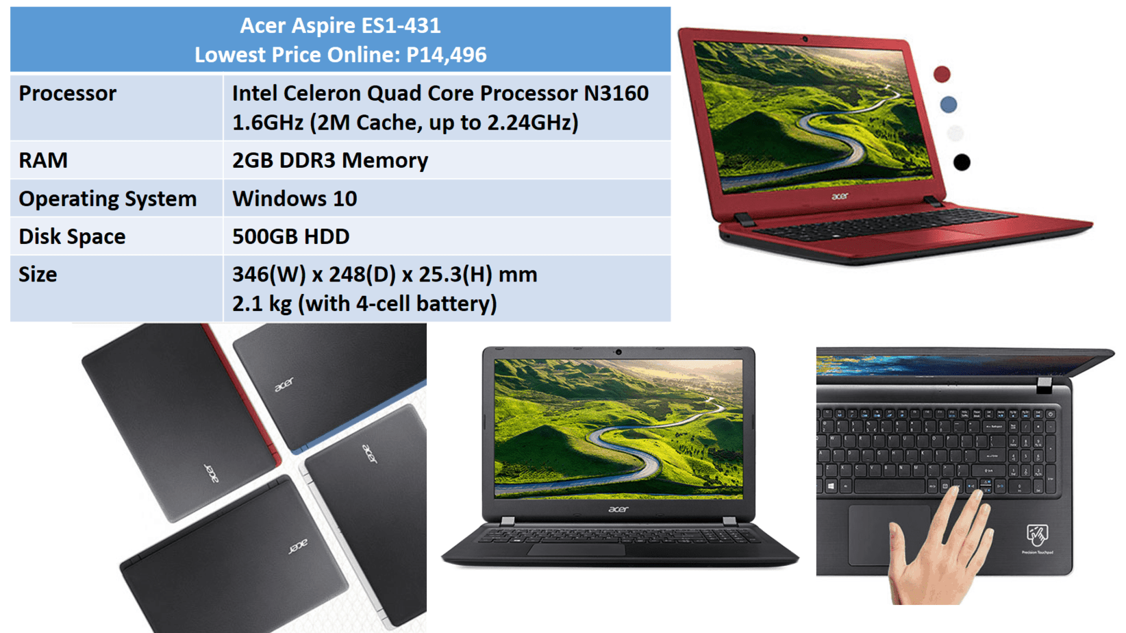 Budget laptops for new freelancers around p15000 work from home acer aspire es1 fandeluxe Gallery