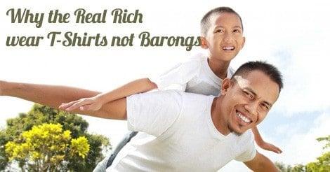 real rich wear tshirts barongs